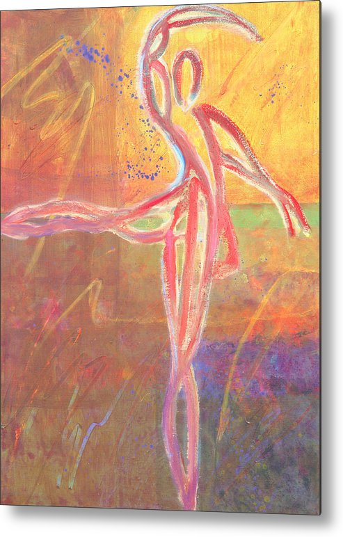 Dance Metal Print featuring the painting For The Love Of Dance 1 by Marie Baehr