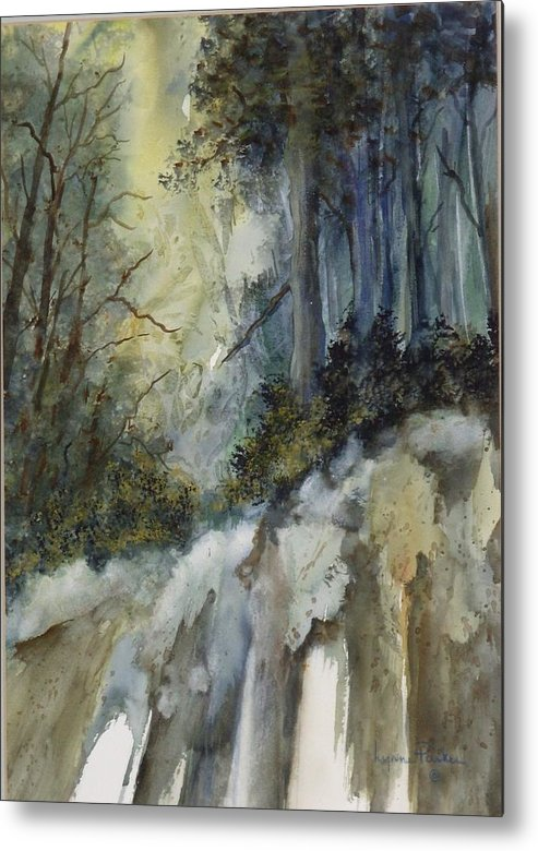 Secenic Forest Metal Print featuring the painting Forest Unknown by Lynne Parker