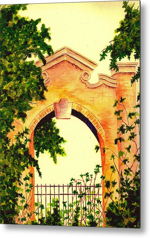 Garden Metal Print featuring the painting Garden Scene by Michael Vigliotti