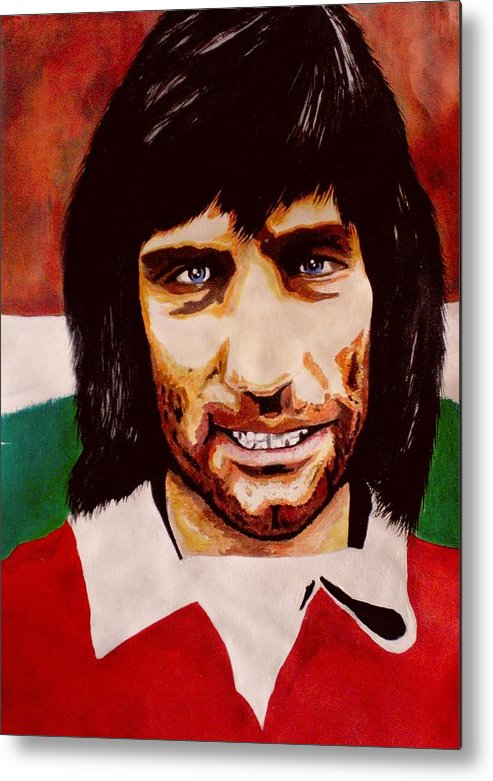 George Best Metal Print featuring the painting Gbest by Colin O neill