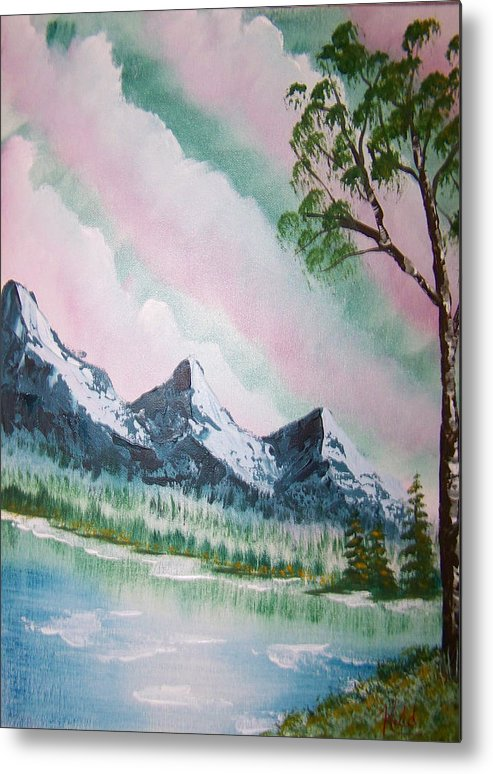Lake Metal Print featuring the painting Infinity by Laurie Kidd