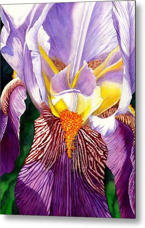 Iris Metal Print featuring the painting Iris by Catherine G McElroy