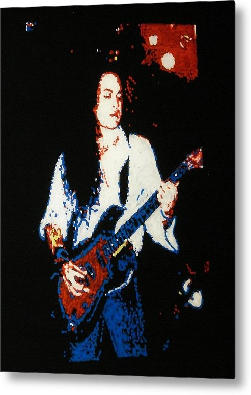 Ozzy Osbourne Metal Print featuring the painting Jake E. Lee by Grant Van Driest