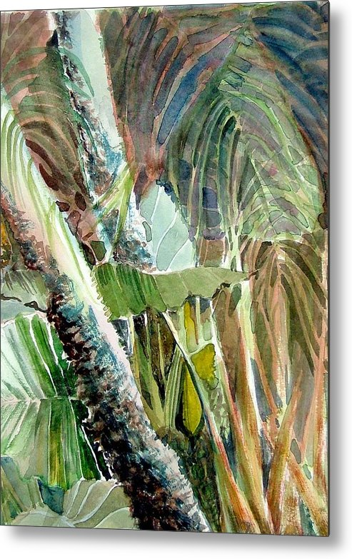 Palm Tree Metal Print featuring the painting Jungle Light by Mindy Newman