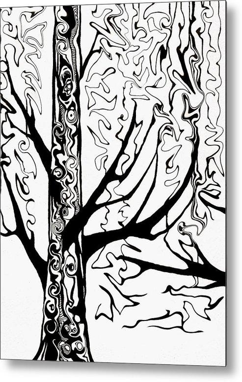 Landscape Metal Print featuring the painting Knots by Jeff DOttavio