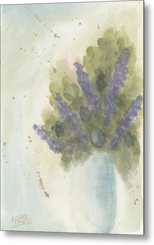 Lilac Metal Print featuring the painting Lilacs by Ken Powers