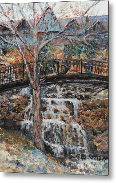 Waterfalls Metal Print featuring the painting Memories by Nadine Rippelmeyer