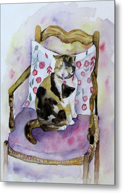 Cat Metal Print featuring the painting Miss Chiepie by Anne McMath