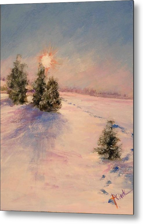 Sunrise Metal Print featuring the painting Morning Frost by Donna Pierce-Clark