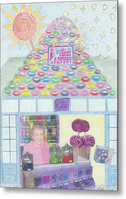 Mountain Metal Print featuring the drawing Mountain Of Jelly Beans by Ingrid Szabo