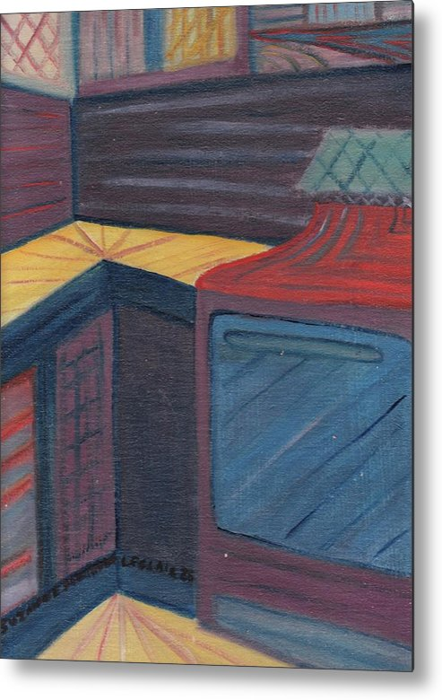 Kitchen Metal Print featuring the painting My Studio by Suzanne Marie Leclair