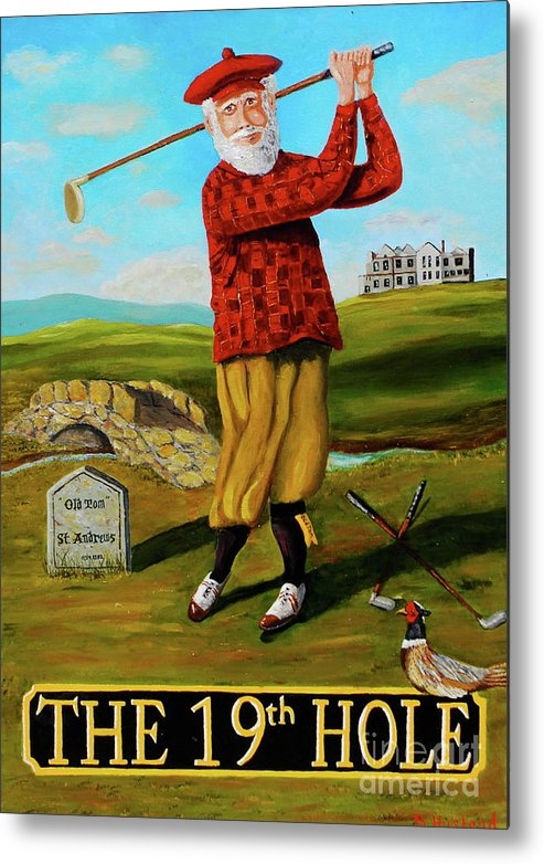 Golf Metal Print featuring the painting Old Tom Morris by Brian Hustead