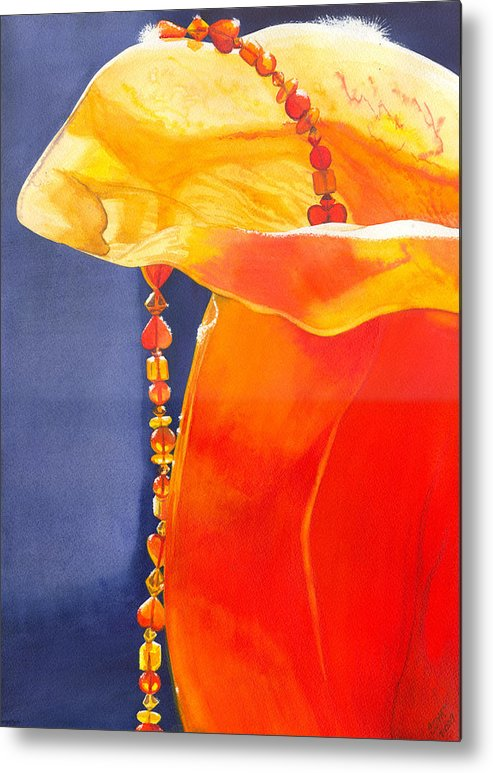 Beads Metal Print featuring the painting Orange by Catherine G McElroy