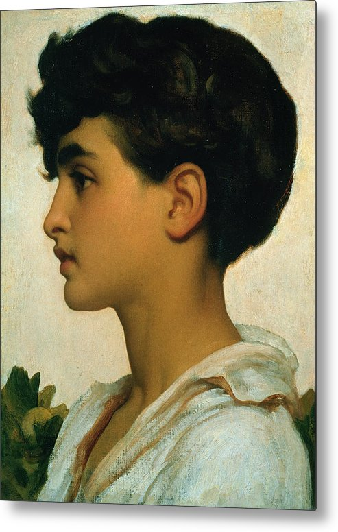 Paolo Metal Print featuring the painting Paolo by Frederic Leighton