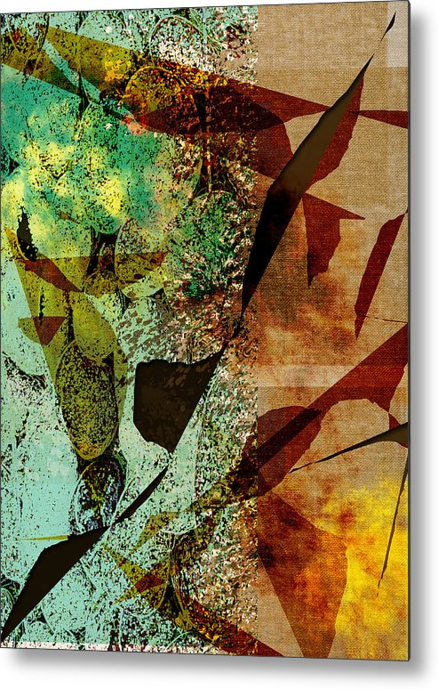 Abstract Metal Print featuring the digital art Pebble by Jill Harrington