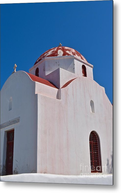 Architecture Metal Print featuring the photograph Red Domed Church by Eric Reger