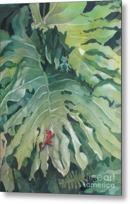 Frogs Metal Print featuring the painting Rendezvous by Elizabeth Carr
