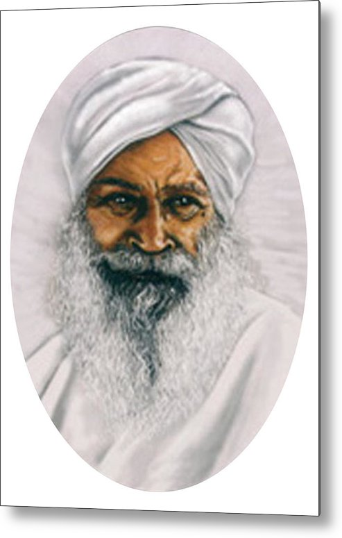Pastels Metal Print featuring the painting Sant Kirpal Singh by Winifred Ann Weishampel