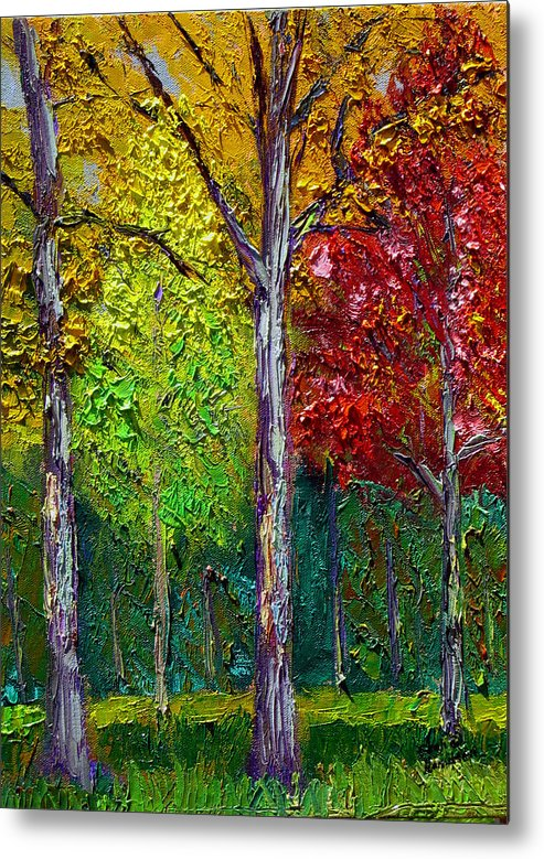 Fall Metal Print featuring the painting Sewp Fall by Stan Hamilton