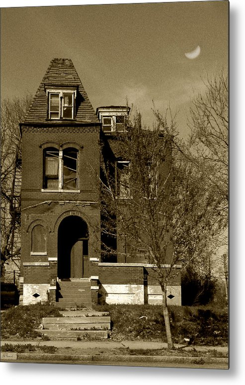 House Metal Print featuring the photograph Shadow House by Lenora Stewart