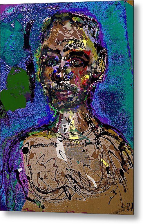 Self Portrait Metal Print featuring the painting Sp 110108 by Noredin Morgan