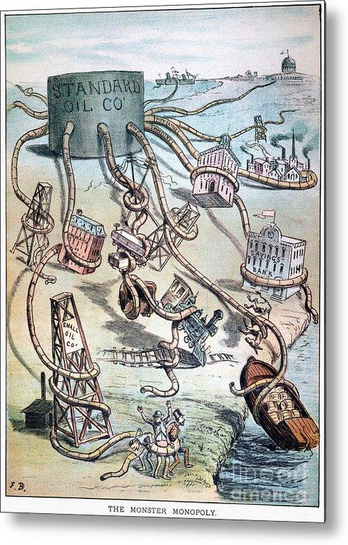 1884 Metal Print featuring the photograph Standard Oil Cartoon by Granger