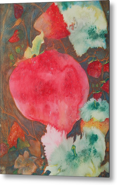Strawberry Field Metal Print featuring the painting Strawberry Field by Henny Dagenais