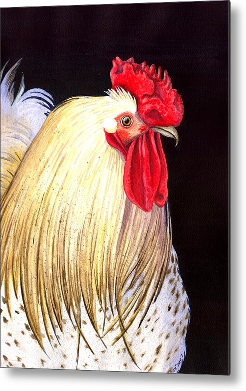 Rooster Metal Print featuring the painting Studdley by Catherine G McElroy