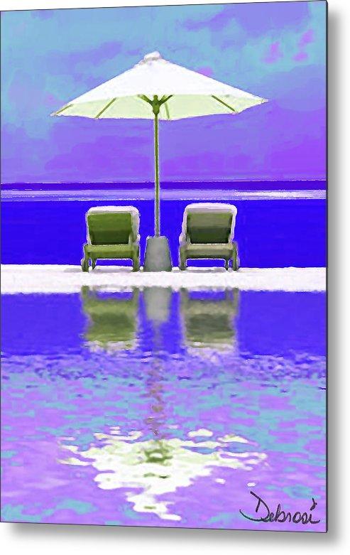 Ocean Metal Print featuring the painting Summer Reflections by Deborah Rosier