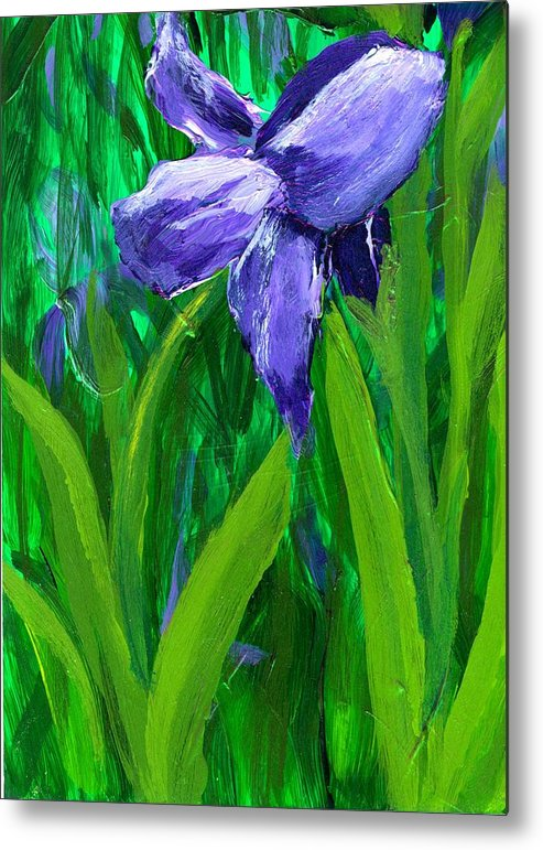 Purple Metal Print featuring the painting The Color Of Royalty by Wanda Pepin