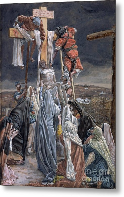 The Metal Print featuring the painting The Descent From The Cross by Tissot