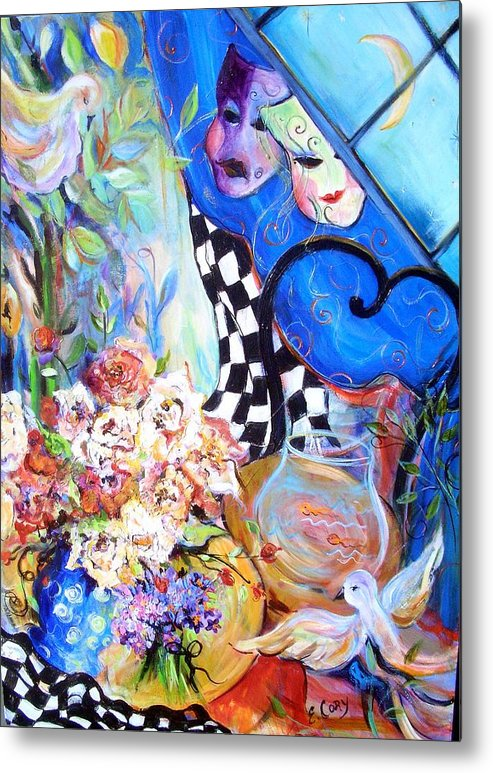 Fantasy Metal Print featuring the painting The Good Life  by Elaine Cory