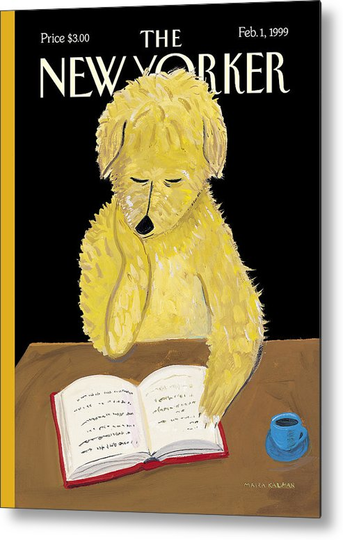 Animals Metal Print featuring the photograph The New Yorker Cover - February 1, 1999 by Maira Kalman