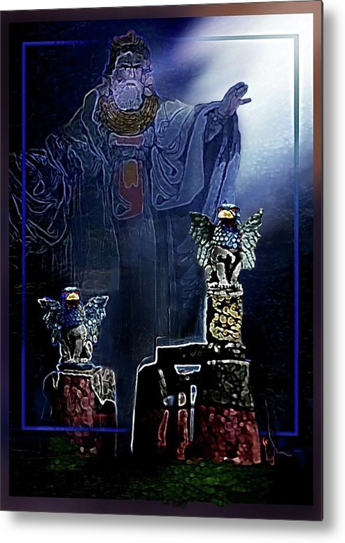 Druid Metal Print featuring the painting The Old Druid by Hartmut Jager