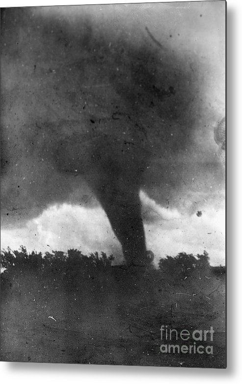 1913 Metal Print featuring the photograph Tornado, C1913-1917 by Granger