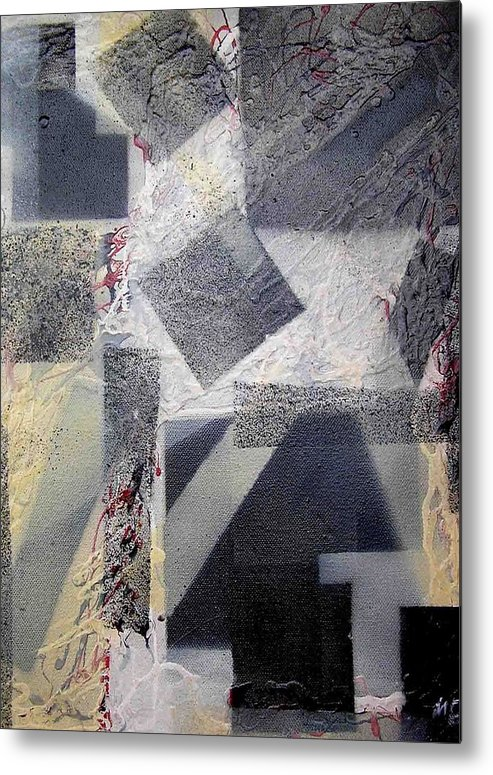 Abstract Metal Print featuring the painting undercover N2 by Evguenia Men