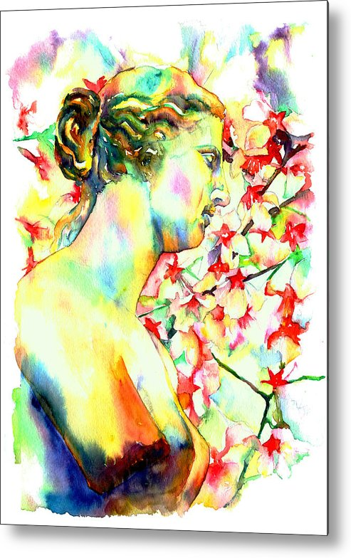 Statue Metal Print featuring the painting Venus De Milo by Christy Freeman