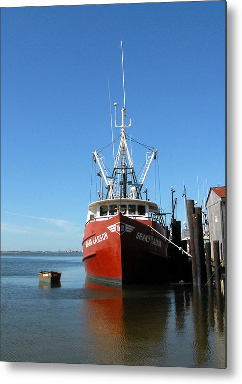 Commercial Fishing Boats Metal Print featuring the photograph Vessel 24 by Joyce StJames
