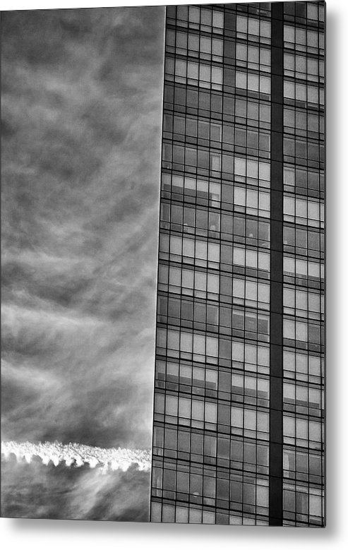 Architecture Metal Print featuring the photograph White Plains Office Building 8 by Robert Ullmann