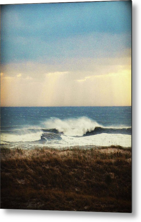 Ocean Metal Print featuring the photograph Windswept Waves by Kate Gainard Monroe
