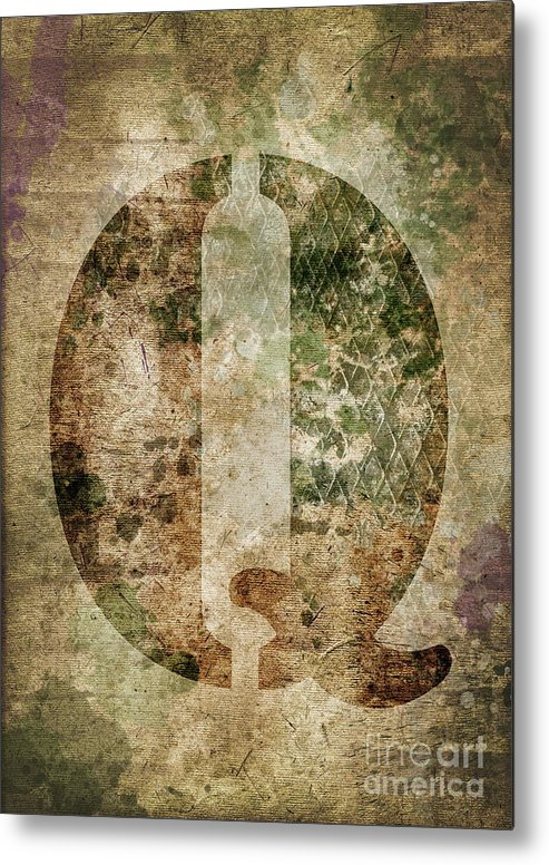 Letter Metal Print featuring the photograph Industrial Letter Q by Delphimages Photo Creations