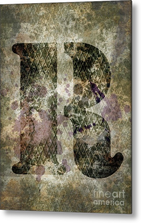 Letter Metal Print featuring the photograph Industrial Letter R by Delphimages Photo Creations