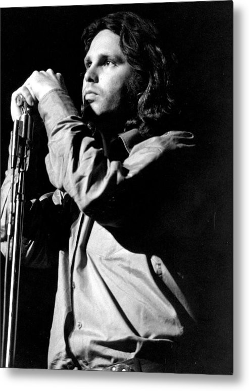 Performance Metal Print featuring the photograph Jim Morrison by Tom Copi