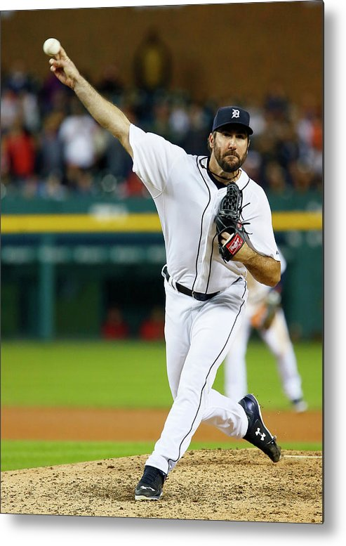 Ninth Inning Metal Print featuring the photograph Justin Verlander by Duane Burleson