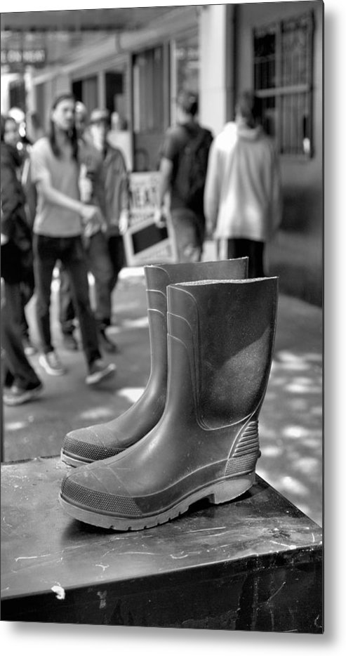 Rubber Boots Metal Print featuring the photograph Rubber Boots by Douglas Pike