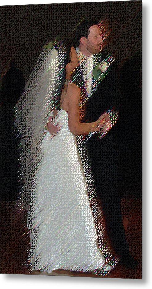 Wedding Metal Print featuring the digital art First Dance by JoAnne Castelli-Castor