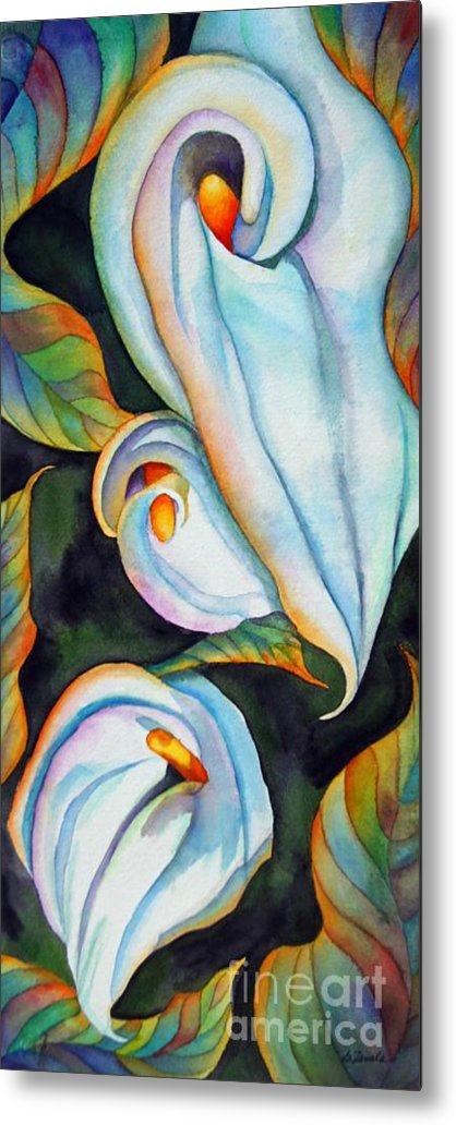 Floral Metal Print featuring the painting Soft Swirl by Gail Zavala