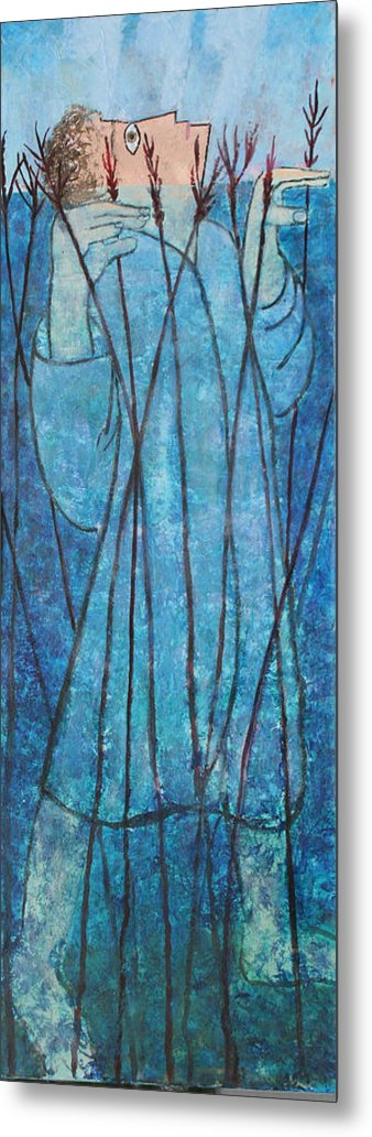 Judaica Metal Print featuring the painting Faith At The Sea Of Reeds by Mordecai Colodner