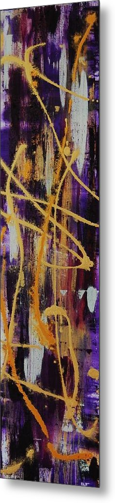 Abstract Metal Print featuring the painting Urban Royality by Lauren Luna