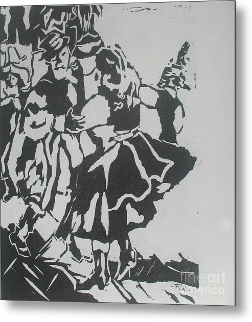 Lenoleum Cut Metal Print featuring the mixed media Country Dance by PainterArtist FIN